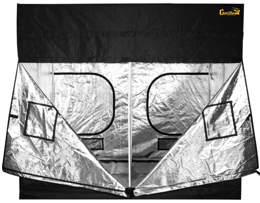 """As a special offer, GrowersHouse.com ships a free one foot height extension with each Gorilla Grow Tent sold! Gorilla Grow Tents are simply the best grow tents available Worldwide. Gorilla Grow Tents are professionally designed grow tents that are ideal for experts and perfect for beginners. The expert configuration positions ducting ports where they should be. Large EZ View windows offer easy grow snapshots without compromising your environment. The doorways offer 360 degree convenient access. The larger layouts provide frustration free maneuvering. Thick material and large 10"""" double cinching ducting ports make maintaining an ideal growing space a snap. Grow easy on yourself. Grow Gorilla. Find out more about these tents by viewing our Gorilla Grow Tent Review & Comparison blog post and video below."""