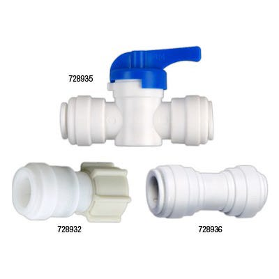 Hydro-Logic Quick Connect Inline Shut Off Valve for Merlin GP RO/Tall Blue -- 1/2 inch