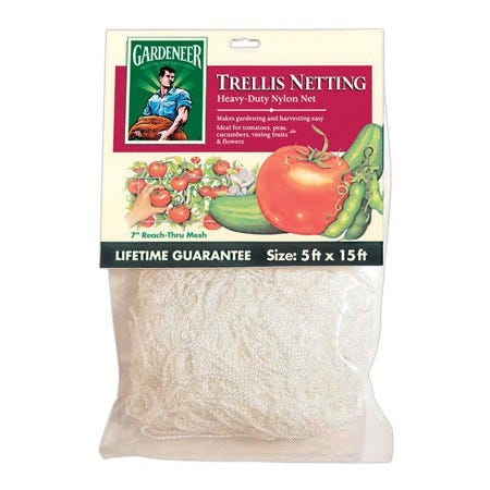 Gardeneer Trellis Netting -- 5' x 30' with 7 inch holes