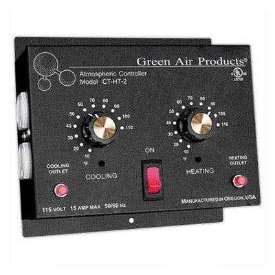 Green Air Products Independent Cooling and amp Heating Thermostat w 4 Outlets - Model CT-HT-2