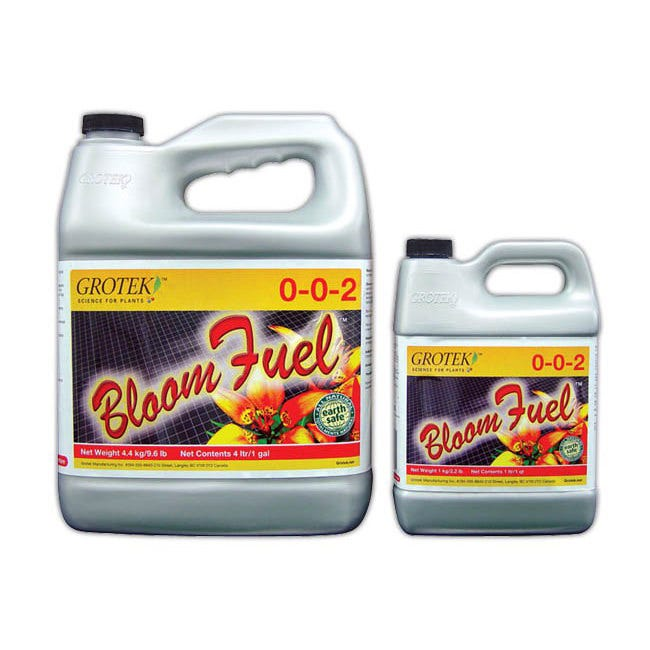 Bloom Fuel 0 - 0 - 2 -- 4 Liter Bloom Fuel™ is a flowering supplement designed to be used alongside your regular fertilizer program. Begin adding Bloom Fuel™ half way through vegetative growth to encourage a flowering response. Must be used in conjunction with your regular feeding program (preferably a flower feeding nutrient). For use on all indoor/outdoor flowers, fruits and vegetables. For commercial or home and garden use.