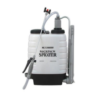 3 Gallon Flo-Master Backpack Sprayer *DISCONTINUED* This item has been discontinued, We recommend Hudson Commercial Bak-Pak Sprayer 4 Gal Backpack as an alternative. This hefty sprayer holds up to three gallons of water, plant food, insecticide, or weed killer in the translucent plastic tank. The 4  diameter opening allows the tank to fill quickly, while the included fine mesh filter prevents liquids from clogging. A dual head nozzle can also angle forward or backward, offering the maximum amount of coverage for your plants. For more versatility, the red cap in the middle can be placed on one of the nozzle heads for a smaller coverage area. The comfortable gray plastic handle depresses easily, for quick work in watering your plants, terminating weeds, cleaning lawn furniture, or eradicating pesky insects. The included gray strap connects to the top and base of the sprayer and is adjustable on both sides for a comfortable pack. The sturdy pumping arm can be used right- or left-handed simply by moving the straps on the pack. Piston pumping action from the arm allows for continuous spraying. Some assembly required.   Three year warranty. Capacity: 3 Gal. Tank Dimensions: 15 W x 4.5 D x 23.5 H Hose Length: 50 L