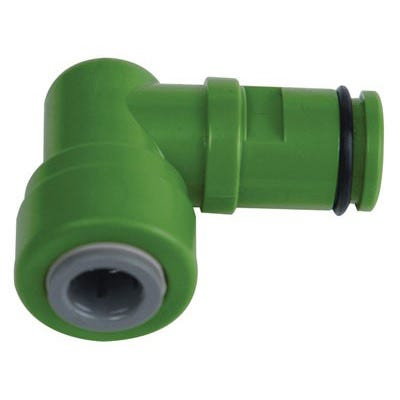 Hydro-Logic Green Drain Elbow For Merlin GP -- 3/8 inch
