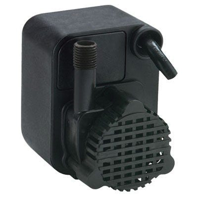 Little Giant PE-1 Submersible Pump -- 170 GPH Small submersible epoxy encapsulated pump for commercial, industrial and home use. Applications include hydroponic systems, water gardens, ponds, etc. This compact 170 GPH pump features 1/4Ó MNPT discharge, 7Õ shut-off head capability, screened inlet and