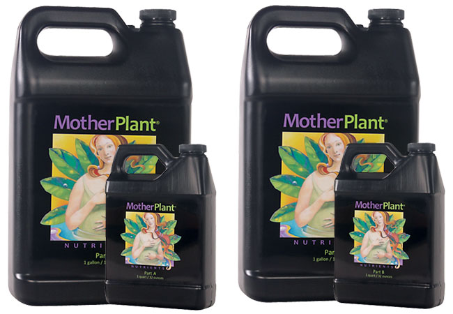 HydroDynamics - Mother Plant - Part A - (2-0-0) MotherPlant® is a two-part nutrient formula provides balanced nutrition for stock plants, whether grown hydroponically, in soilless mixes, or soil. Exacting N-P-K ratios are calibrated to meet the nutritional requirements of the mother plant, without excess nitrates. Rich bio-organics are added to improve the uptake of nutrients and strengthen the plant's natural immunity to environmental stress. MotherPlant® Nutrients will help your mother plants produce the most vigorous clones possible!