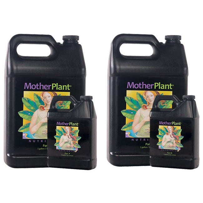 HydroDynamics - Mother Plant - Part B - 1 Gallon MotherPlant® is a two-part nutrient formula provides balanced nutrition for stock plants, whether grown hydroponically, in soilless mixes, or soil. Exacting N-P-K ratios are calibrated to meet the nutritional requirements of the mother plant, without excess nitrates. Rich bio-organics are added to improve the uptake of nutrients and strengthen the plant's natural immunity to environmental stress. MotherPlant® Nutrients will help your mother plants produce the most vigorous clones possible!