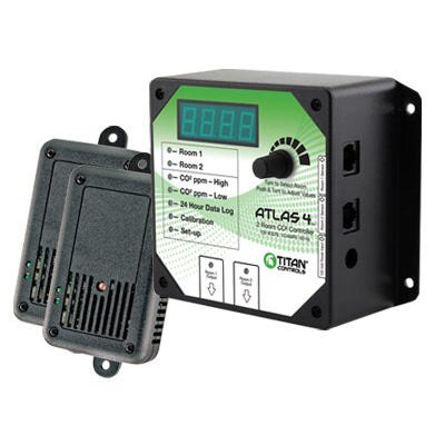 Titan Controls Atlas 4 -- Two Area CO2 Monitor and Controller