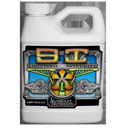 Humboldt Nutrients Structural Integrity -- 1 Quart *DISCONTINUED* Silicate is one important element most soils lack. Using Potassium Silicate for your garden protects plants from high salinity, pests, molds, and transpiration in higher temperatures. SI enhances the plant immunity mechanism by entering the plant cell walls. SI is essential to the leaf and stem strength and allowing the plant to hold up heavier fruits. High silicate content in plant tissue enables the leaves to be held erect which allows more light to penetrate to the lower level of the canopy. In order for this to occur the SI needs to be used continually. SI can also benefit and improve resistance to wilt in small plants or clones and seedlings. Studies have shown that when used in cloning and seedlings silicates help speed up the growth by as much as 80-90%. When a plant is rich in silica they lose less moisture in hotter climates. In that case there is no need to spray anything other than SI. ● This fertilizer is intended as a supplement to a regular fertilization program and will not, by itself, provide all the nutrients normally required by plants. ● Product most effective if used in same season. ● Use only as directed. ● Keep out of direct sunlight during storage or extended periods of time. ● Store at room temperature. ● Wear proper protective clothing. Guaranteed Analysis Silicon (Si)………………………….………………………..6.0% 6.0% Water Soluble Silicon (Si) Derived from: Silicate Directions Application Rates: Hydroponics Application: Use 1-3ml per gallon of reservoir water. Change nutrient solution weekly to avoid excess sediment. General Application: Use 1-3ml per gallon of water every 1-2 weeks. Foliar Application: Use 1-3ml per gallon of finished spray solution.