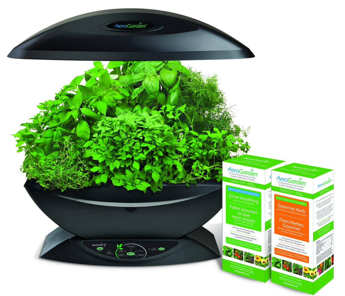 AeroGarden 7 w/Gourmet Herb & Grow Anything Kit Seed Starting, Seedling, Seedstarting Supplies, Gardening, Seed-Starting, Garden