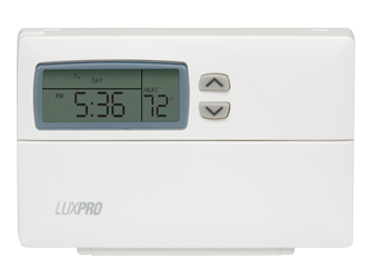 LuxPro Digital Thermostat *DISCONTINUED* This item has been discontinued, Please try our selection of Thermometer, Hygrometer for an alternative. The LuxPro® Thermostat is an easy to use digital programmable thermostat that features separate weekday and weekend programs for heating and cooling systems. Separate weekday and weekend programming. 4 periods per day. 1 year warranty. Contractor grade. Default temperature program, ranges from 46 °F to 90°F. For use with Ideal-Air™ Mini Split units.