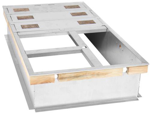 Ideal-Air DriFecta 14  Roof Curb for Use with 7.5/10 Ton HVAC *DISCONTINUED* This item has been discontinued, Please try our selection of Air Conditioner Accessories for an alternative. This Ideal-Air roof curb is designed to be used as the mounting frame that a commercial HVAC unit rests on while being installed on a rooftop. This particular Ideal-Air Drifecta Roof Curb is specific to use with the 7.5 Ton and 10 Ton Drifecta units, both Gas/Electric and Electric/Electric. Specifications Constructed of high-quality galvanized steel Uses innovative tongue and groove MicroLok Design Requires no tools for for assembly Includes wood nailer for roofing, gasketing to provide seal for the HVAC unit, and duct supports and insulated deck pans 14  tall