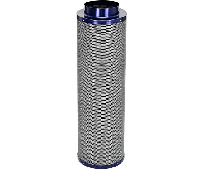 Active Air Carbon Filter 8 x 39 in - 950 CFM Active Air Carbon Filters are loaded with virgin activated Australian Granular Carbon. This carbon absorbs VOC's (volatile organic compounds) thus trapping every odor molecule that passes through the filter onto the micro-porous carbon surface! These filters are light weight and incredibly effective at removing the most potent and heavy odors. Each filter is machine packed and includes a pre-filter. Features Attached flange 1.8  carbon bed depth Powder coated aluminum tops & bases 2-year life expectancy