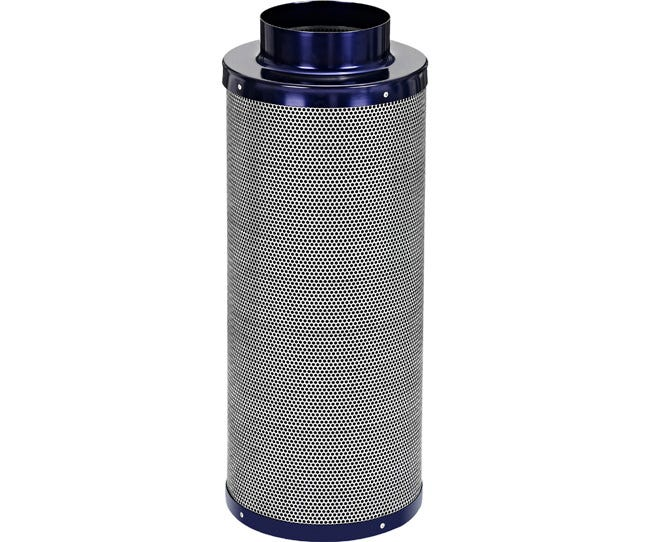 Active Air Carbon Filter 6 x 24 in - 550 CFM Active Air Carbon Filters are loaded with virgin activated Australian Granular Carbon. This carbon absorbs VOC's (volatile organic compounds) thus trapping every odor molecule that passes through the filter onto the micro-porous carbon surface! These filters are light weight and incredibly effective at removing the most potent and heavy odors. Each filter is machine packed and includes a pre-filter. Features Attached flange 1.8  carbon bed depth Powder coated aluminum tops & bases 2-year life expectancy