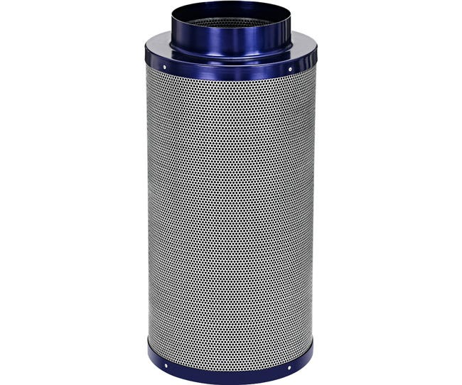 Active Air Carbon Filter 8 x 24 in - 750 CFM Active Air Carbon Filters are loaded with virgin activated Australian Granular Carbon. This carbon absorbs VOC's (volatile organic compounds) thus trapping every odor molecule that passes through the filter onto the micro-porous carbon surface! These filters are light weight and incredibly effective at removing the most potent and heavy odors. Each filter is machine packed and includes a pre-filter. Features Attached flange 1.8  carbon bed depth Powder coated aluminum tops & bases 2-year life expectancy