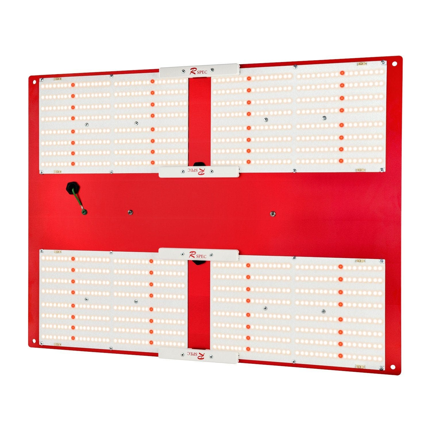 Horticulture Lighting Group HLG550 V2 R spec - 500W LED Grow Light - 240V w/ LED Glasses Horticulture Lighting Group 500W 4 Quantum Boards HLG 550 V2 - High Efficiency - R Spec Horticulture Lighting Group's HLG550 V2 indoor horticulture LED LampOur HLG550 V2 R spec Commercial Indoor Horticulture LED grow light is designed to replace a single-ended 1000watt HID. Each HLG-550 V2 uses 4 of our custom designed full-spectrum high-efficiency white light quantum boards with Samsung LM301B and Deep Red LED 660nm. Comes in 3500K + 660nm (Flowering and Full Cycle with red) spectrum. This unit is dimmable, with wattage output from 200 to 480 watts. R Spec - 64 White LEDs have been replaced with red LEDs Top Features High efficiency white light Quantum Boards White Light Full Spectrum for better results Reliable passive cooled design Better canopy light penetration with diffused light Ideal for veg and bloom Dimmable Power Supply included 3 Year Warranty Specifications: Power250-500 Watts Voltage Range90-277 VAC LED1152 pcs Samsung 301B - 64 Red Flowering Footprint4.5'X4.5' or 4'X5' Veg Footprint6'X6' System Efficiency171 Lm/W System PPF Efficacy 2.6-2.65 μmol/joule Total output1178.05 PPF Dimensions26 X20 x3  Recommended Mounting Height 22-32 inches