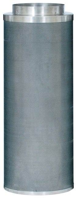 Can-Lite Carbon Filter 12 inch - 1800 CFM CF group has added a new series of canister filters to their already dominant line of activated carbon filters. After years of research and field testing of the light-weight carbon filter, CF group will proudly place their trusted name in air filtration on this new series of filters. The Can-Lite™ has been developed with ease of installation, durability and effectiveness in mind. The Can-Lite™ is manufactured the same way as the Original Can-Filters® (proven packed bed design). The difference is in the carbon; high density carbon is used in the Can-Lite™. Built in flange 10% More Virgin Activated Australian RC Light Weight Granular Carbon than the competition 2  Bed Depth of Pure Virgin Activated Australian RC Light Weight Granular Carbon 51% Perforated Open Area For Maximum Air Flow Up to 2.5 Years Life Expectancy Weight saving aluminum top and bottom Pre filter included Ease of installation with the low overall weight