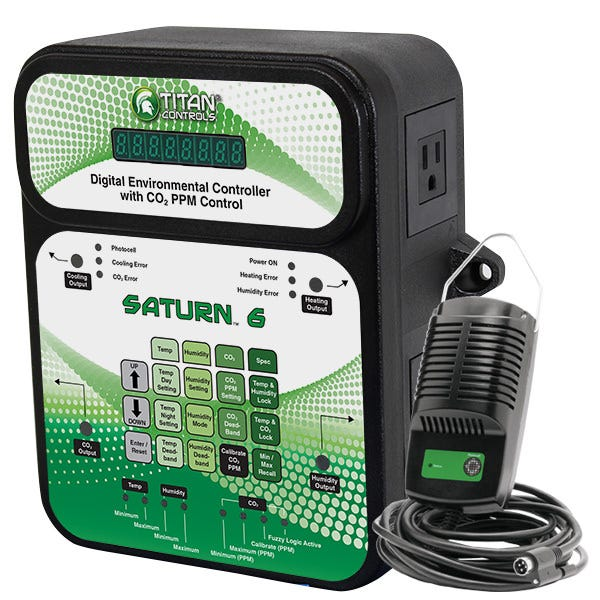 Titan Controls Saturn 6 Digital Environmental Controller w CO2 PPM Control