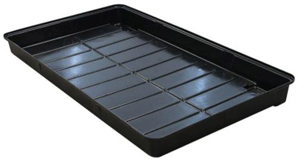 """Botanicare Low Tide Clone Tray The Low Tide Cloner Tray is the newest addition to the Botanicare expanding line of trays. The tray is designed with space saving propagation in mind, holding four 10 x 20 trays on a shallow drainage grid for optimal watering and wicking. The Botanicare® Low Tide Clone Tray will quickly impress your mothers by cleaning up your grow room. Front seated bulkhead ports for easy access. Hassle-free shelving, and simple vertical chaining. Formed from durable ABS plastic. Internal growing area of 43""""x23"""". Also known as the Baker's Rack tray because it's the same size as a bakers rack used in commercial kitchens."""