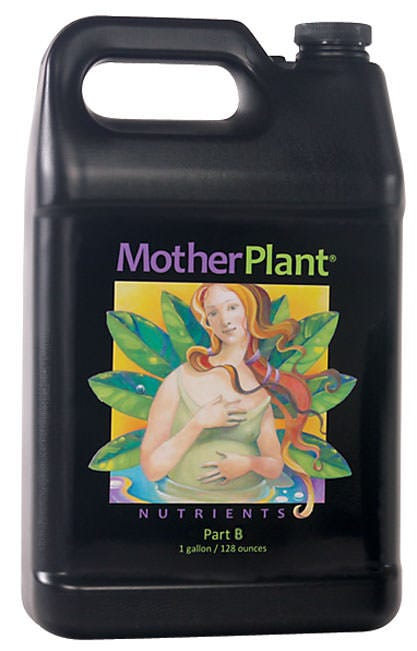 HydroDynamics - Mother Plant - Part B (1-1-3) MotherPlant® is a two-part nutrient formula provides balanced nutrition for stock plants, whether grown hydroponically, in soilless mixes, or soil. Exacting N-P-K ratios are calibrated to meet the nutritional requirements of the mother plant, without excess nitrates. Rich bio-organics are added to improve the uptake of nutrients and strengthen the plant's natural immunity to environmental stress. MotherPlant® Nutrients will help your mother plants produce the most vigorous clones possible! Directions for Use General Use - Shake well before using! Mix 15 - 20ml (3 - 4 teaspoons) of Part A and 15 - 20ml (3 - 4 teaspoons) of Part B per gallon of water. Add to water one part at a time. Do NOT mix Part A and Part B together without water. MotherPlant® Nutrients is a continuous liquid feed nutrient designed to be used with each irrigation. Apply only as directed.