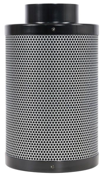 Black Ops Carbon Filter 4 in x 12 in 200 CFM *DISCONTINUED* This item has been discontinued, Please try our selection of Carbon Filters for an alternative. Black Ops Carbon filters feature virgin activated Australian RC-412 granular carbon. The activated carbon absorbs and traps pollutant molecules within the carbon removing contaminants, odors and other airborne impurities. Lightweight design Precision machine packing allows for more carbon loaded within and less movement Open air mesh design maximizes airflow Powder coated aluminum tops & bases Built in flange and 2 pre-filters are included 2 year life expectancy *Life expectancy is average, could be more or less based on environment and usage.
