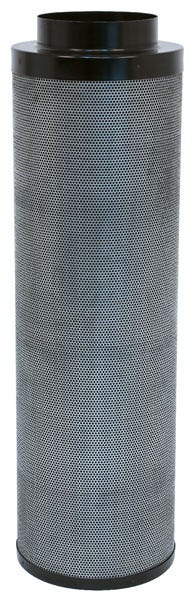 Black Ops Carbon Filter 8 in x 39 in 950 CFM Black Ops Carbon filters feature virgin activated Australian RC-412 granular carbon. The activated carbon absorbs and traps pollutant molecules within the carbon removing contaminants, odors and other airborne impurities. Lightweight design Precision machine packing allows for more carbon loaded within and less movement Open air mesh design maximizes airflow Powder coated aluminum tops & bases Built in flange and 2 pre-filters are included 2 year life expectancy *Life expectancy is average, could be more or less based on environment and usage.