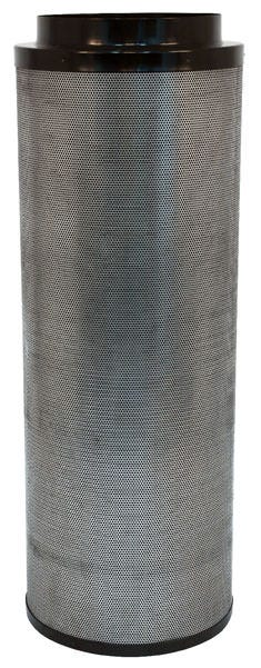 Black Ops Carbon Filter 14 in x 48 in 2500 CFM Black Ops Carbon filters feature virgin activated Australian RC-412 granular carbon. The activated carbon absorbs and traps pollutant molecules within the carbon removing contaminants, odors and other airborne impurities. Lightweight design Precision machine packing allows for more carbon loaded within and less movement Open air mesh design maximizes airflow Powder coated aluminum tops & bases Built in flange and 2 pre-filters are included 2 year life expectancy *Life expectancy is average, could be more or less based on environment and usage.