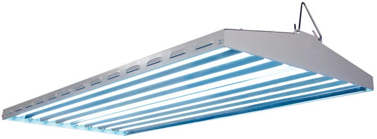 New Wave T5 HO Fluorescent Light Fixture - 8 Lamp - 48 inch