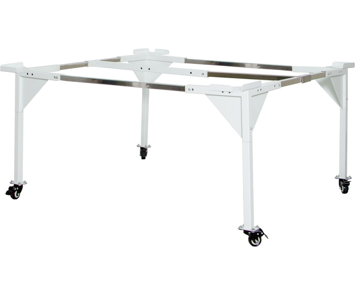 Active Aqua Universal Tray Stand, Medium (4' x 4' or 3' x 3') Active Aqua Universal Tray Stand, Medium (4' x 4' or 3' x 3') Active Aqua Tray Stands offer strength and mobility for every scenario involving use of propagation flood tables. The reinforced steel structure is easy to assemble and requires no tools. The stands are extremely sturdy - they can evenly hold flood tables evenly, allowing for equal water distribution and proper drainage. This tray stand accommodates all Active Aqua 3' x 3' and 4' x 4' flood tables. Active Aqua Universal Tray Stand Features: Powder coated finish Removable corner guards included for stability and to prevent shifting of tray Flat bench style accommodates all designs of standard size hydroponic trays—the freedom from surrounding bars allows you to grow in your preferred flood table regardless of depth or size of outer flange No-hassle assembly—set-up in less than 30 minutes! Low-profile leg kit available Comes with a one year warranty