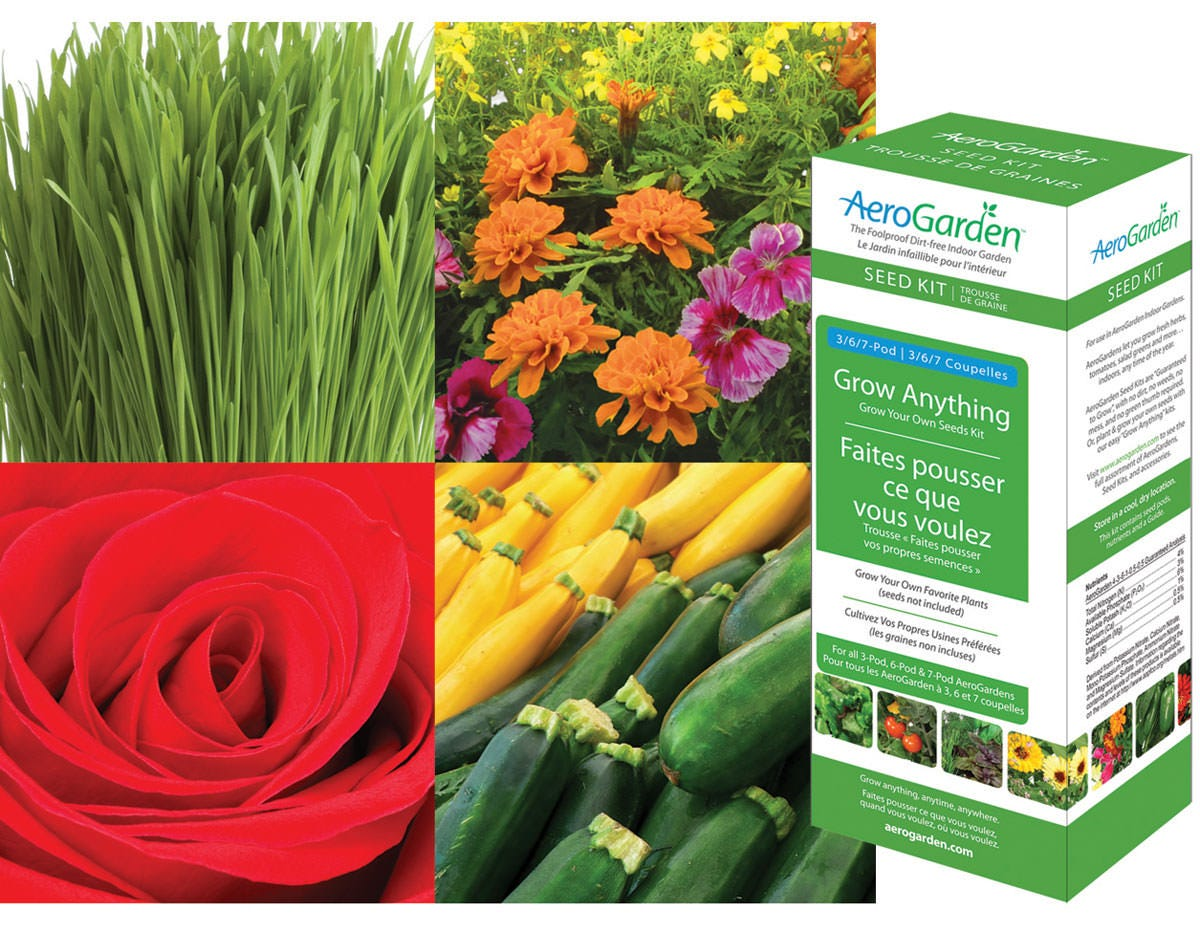 AeroGarden Grow Anything 1-Season Kit Seed Starting, Seedling, Seedstarting Supplies, Gardening, Seed-Starting, Garden