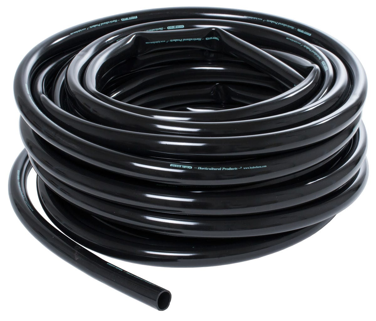 Photograph of Hydro Flow Vinyl Tubing Black 3/16 in ID - 1/4 in OD 100 ft Roll