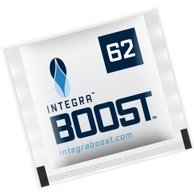 Photograph of Integra Boost 8g Humidiccant by Desiccare 62% Humidity Packs