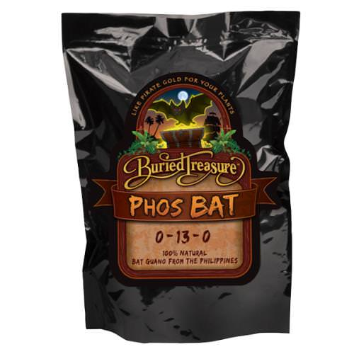 Buried Treasure Phos Bat Guano 0 - 13 - 0 -- 2.2 lbs Buried Treasure Phos Bat is a natural fertilizer from the Philippines that contains phosphorus. It can be used indoors or outdoors on vegetables, herbs, flowers, ornamentals and in hydroponic applications. Not for sale in FL or NY