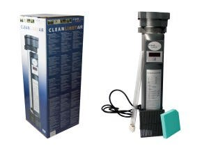 "Clean Light UV Air Purifier The CleanLight Air purifier is a ready-made CleanLight solution. This unit is designed for consumers, hobby gardeners and professional horticulturists. The CleanLight Air unit improves the air quality and fights harmful infections! The air we breathe is one of our most basic needs. We need air to live on earth. A clean, fresh air ensures better performance, good humor and a healthy and fit feeling. You probably know the relaxing feeling that comes from a clean and natural environment. Air has a greater effect on us than we realize. The CleanLight Air unit is a 100% secure application to clean dust, spores, fungi, viruses and bacteria from the air. The strong 60Watt UV lamp is completely shielded so there is no UV light released. As a result, the CleanLight Air can be hung in public areas and workplaces. Also, the ionizer and air circulation are quiet so it does not distract or irritate. People with asthma or other chronic problems and respiratory diseases will greatly benefit from the CleanLight Air application. The air that exits the CleanLight Air unit is for 90% filtered, ionized and disinfected. Clean air in your living environment is better for your health and it increases the resistance of your body. Also, it reduces or eliminates breathing problems and depression diminishes or disappears completely. The main effect is that diseases can be prevented. The CleanLight Air is also effectively used by gardeners to tackle mold in the cold storage. Common problems include powdery mildew and botrytis, to fight these diseases, the CleanLight Air unit is very effective. For each 100m3 meter one CleanLight Air unit is needed. Not a ""Big box"" store air purification system. The CleanLight Air is a professional grower grade air filtration system that fights bacteria, viruses, and fungi in your grow room. Designed, tested, and manufactured in the European Union, the CleanLight Air is made of high quality components. The CleanLight Air treats areas up to 100 cubic meters"