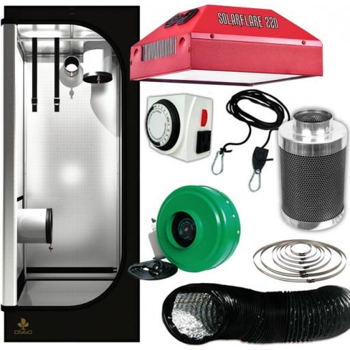 220 Closet LED Grow Room Package - 2 x 2 FULL