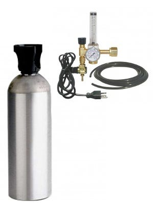 Photograph of Common Culture 20 lb CO2 Tank, Regulator, & Tubing Package Combo