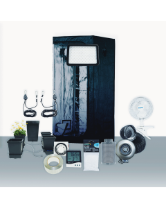 3' x 3' Grow Room 158W PLS LED Hydro Complete Grow Tent Package