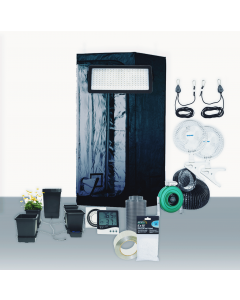 3' x 3' Grow Room 530W PLS LED HydroFlood Complete Grow Tent Package