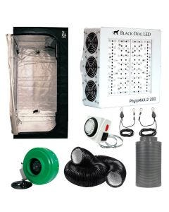 Black Dog PhytoMAX-2 200W LED Grow Room Package - 3 x 3