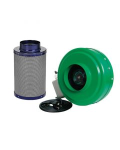 Active Air - 6 in Inline Duct Fan + Carbon Filter Combo (6x16)