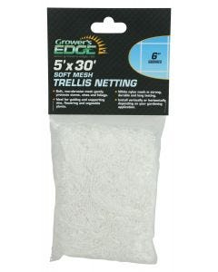 Grower's Edge Soft Mesh Trellis Netting 5 ft x 30 ft w/ 6 in Squares