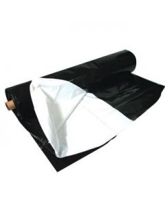Black & White Poly, 100'x10', 5.5 mil, Roll