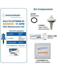 Dosatron Mini Seal Kit for Water Powered Doser 11 GPM 1:1000 to 1:112