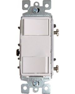 QuietCool Double Single Pole Switch & Plate