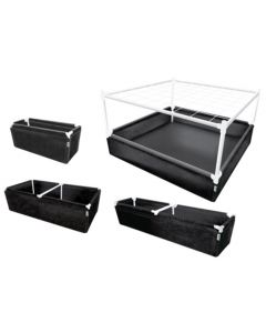 "GeoPot GeoPlanter and Tray Liner Black - 3' x 3'  x 12"" 67 Gallons"