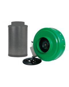 """Common Culture Carbon Filter 6"""" x 16"""" + Active Air 6"""" in Inline Duct Fan Combo"""