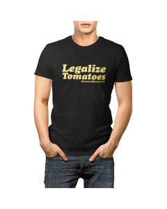 Growers House Legalize Tomatoes T-Shirt - Gold on Black