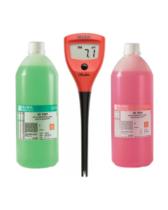 Hanna pH Checker Complete Starter Kit with 4 & 7 Calibration Solution