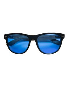 Summer Blues Optics - Black Frames, Light Bamboo Arms | HPS