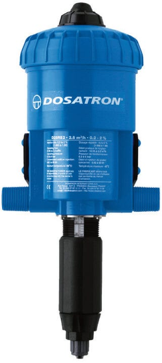 Dosatron Water Powered Nutrient Doser D25RE2 - 11 GPM 1 500 to 1 50