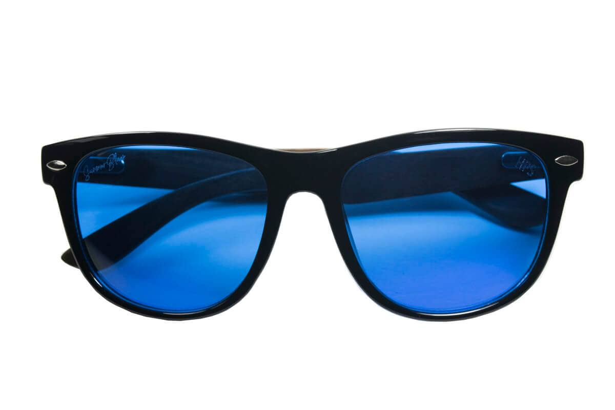 Photograph of Summer Blues Optics - Black Frames, Ebony Bamboo Arms | HPS